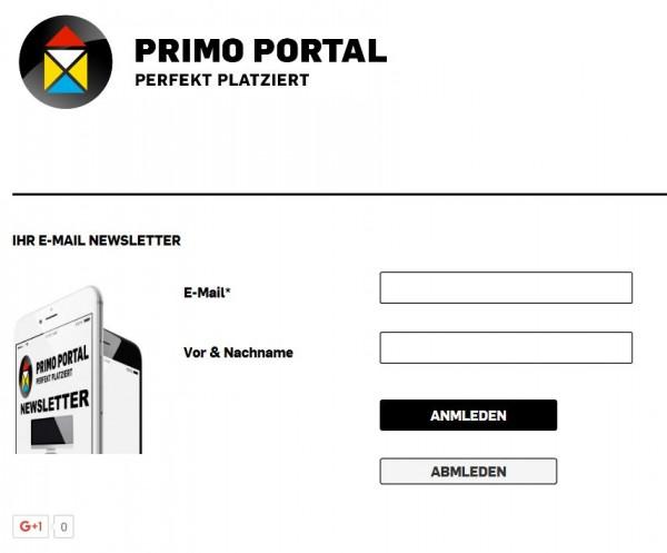 E-Mail Newsletter PRIMO PORTAL